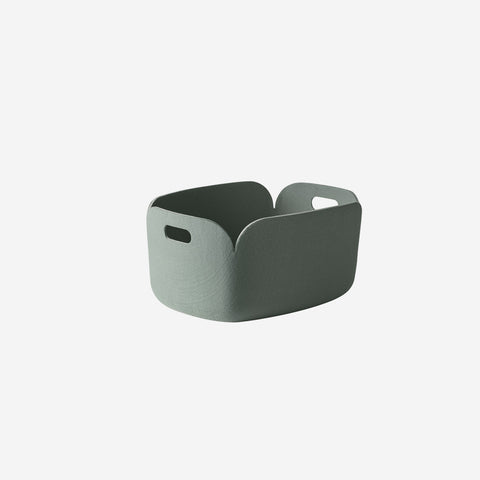 SIMPLE FORM. - Muuto - Restore Basket Dusty Green By Muuto - Basket