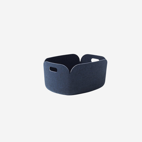 SIMPLE FORM. - Muuto - Restore Basket Midnight Blue By Muuto - Basket