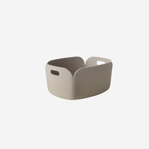 SIMPLE FORM. - Muuto - Restore Basket Sand By Muuto - Basket