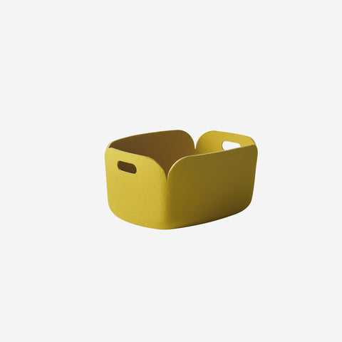 SIMPLE FORM. - Muuto - Restore Basket Yellow By Muuto - Basket