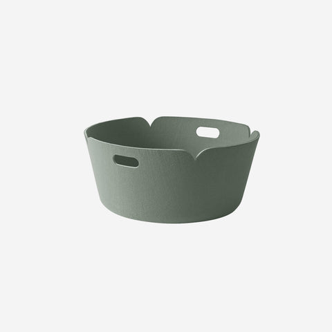 SIMPLE FORM. - Muuto - Restore Round Basket Dusty Green By Muuto - Basket