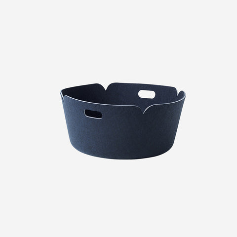 SIMPLE FORM. - Muuto - Restore Round Basket Midnight Blue - Basket