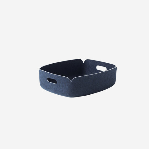 SIMPLE FORM. - Muuto - Restore Tray Basket Midnight Blue By Muuto - Basket