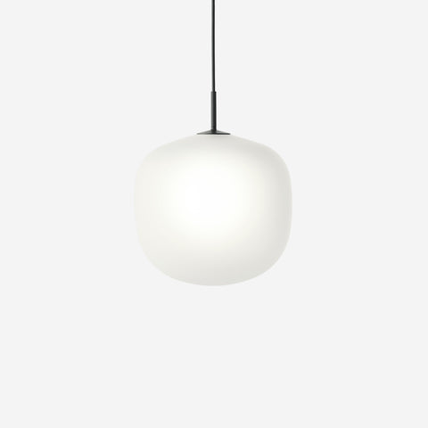 SIMPLE FORM. - Muuto - Rime Pendant Ø37cm Black by Muuto - Pendant
