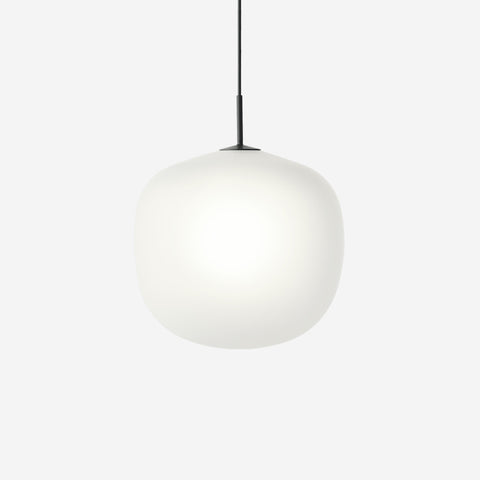 SIMPLE FORM. - Muuto - Rime Pendant Ø45cm Black by Muuto - Pendant