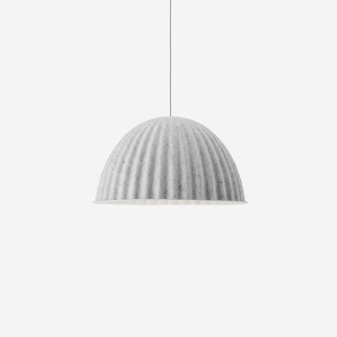 SIMPLE FORM. - Muuto - Under The Bell Pendant Ø82 White Melange by Muuto - Pendant