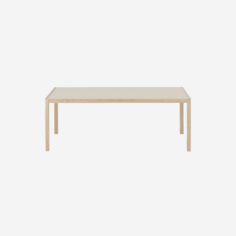 SIMPLE FORM. - Muuto - Workshop Table Warm Grey/Oak Long by Muuto - Table