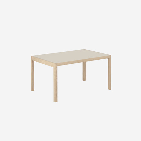 SIMPLE FORM. - Muuto - Workshop Table Warm Grey/Oak Short by Muuto - Table
