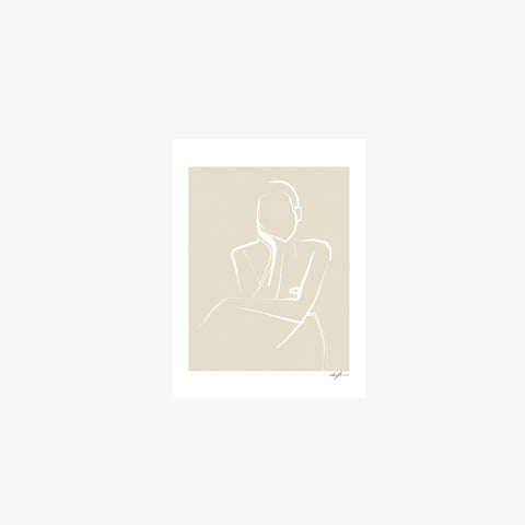 SIMPLE FORM. - Anna Johansson - Demure Print - Art Print