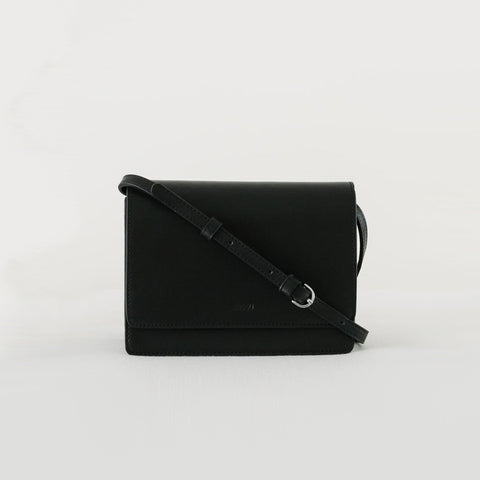 SIMPLE FORM. - Baggu - Black Small Structured Cross Over Bag - Bag