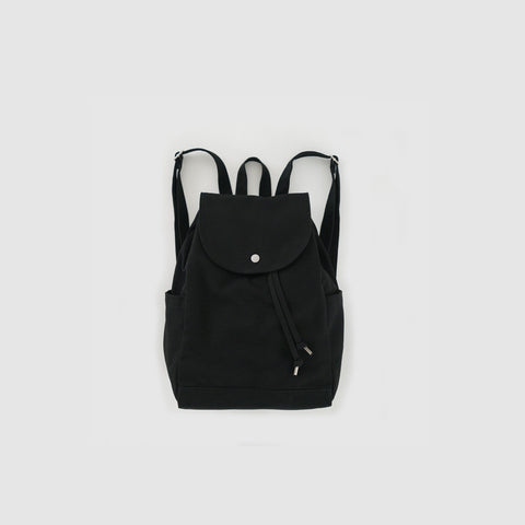 Black Canvas Drawstring Backpack