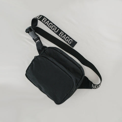 SIMPLE FORM. - Baggu - Black Waist Bag Fanny pack - Bag