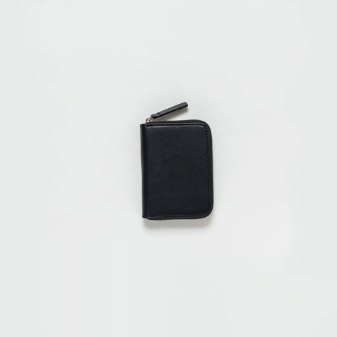 Baggu - Black Leather Short Wallet - Bag  SIMPLE FORM.