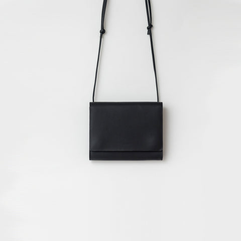 SIMPLE FORM. - Baggu - Black Leather Compact Purse Bag - Bag