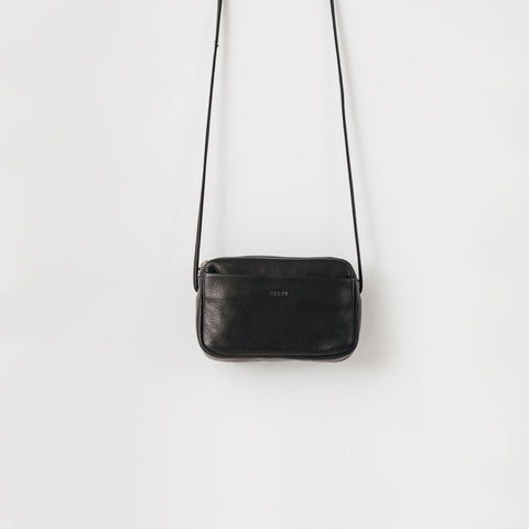 Baggu - Black Leather Mini Purse - Bag  SIMPLE FORM.