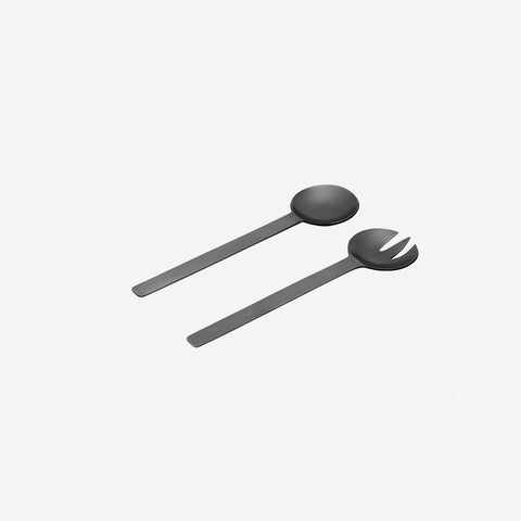SIMPLE FORM. - Behr and Co - Black Nickel Geo Salad Servers - Salad Servers