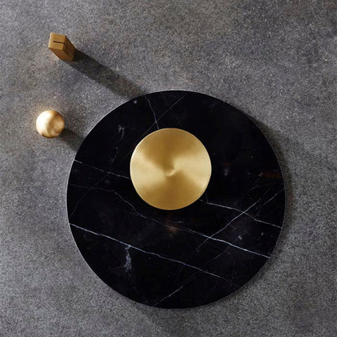Behr and Co - Brass Circle Coaster Set - Coasters  SIMPLE FORM.