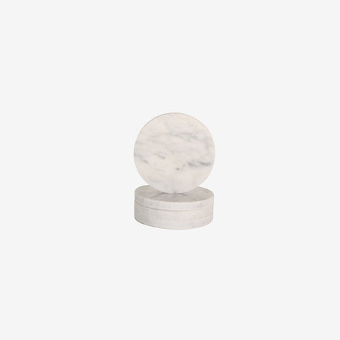 Carrara Marble Coasters Set of 4