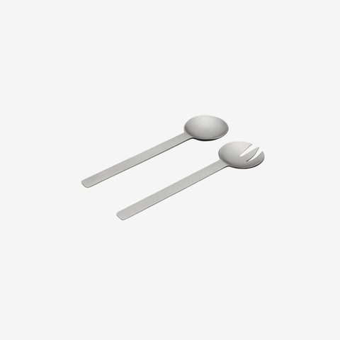 Nickel Geo Salad Servers