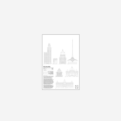 SIMPLE FORM. - Block Stdo - City Icons of Melbourne - Art Prints