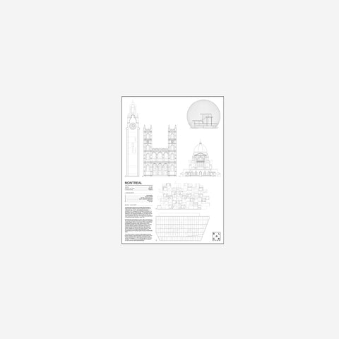 SIMPLE FORM. - Block Stdo - City Icons of Montreal - Art Prints