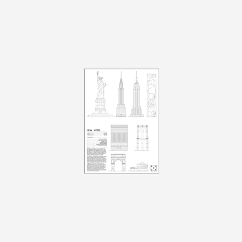 SIMPLE FORM. - Block Stdo - City Icons of New York - Art Prints