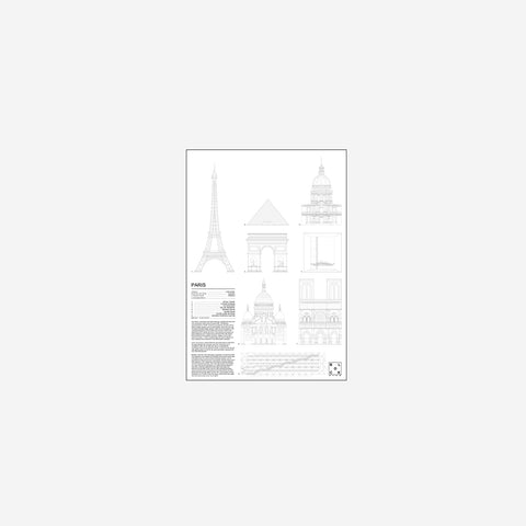 SIMPLE FORM. - Block Stdo - City Icons of Paris - Art Prints