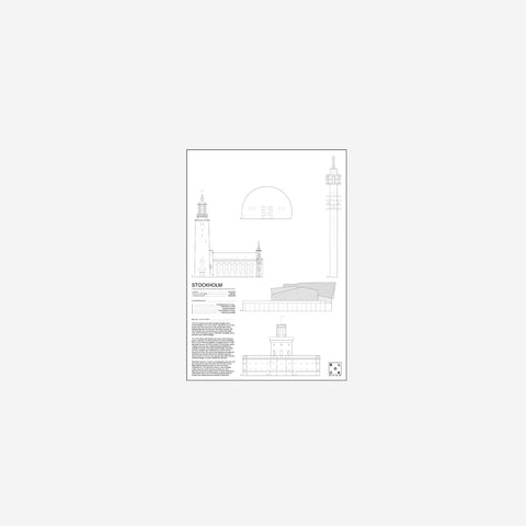 SIMPLE FORM. - Block Stdo - City Icons of Stockholm - Art Prints
