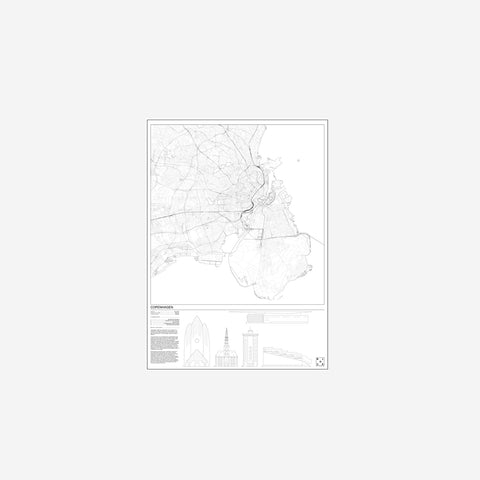SIMPLE FORM. - Block Stdo - City Map of Copenhagen - Art Prints