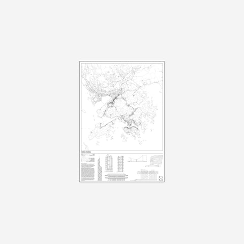 SIMPLE FORM. - Block Stdo - City Map of Hong Kong - Art Prints
