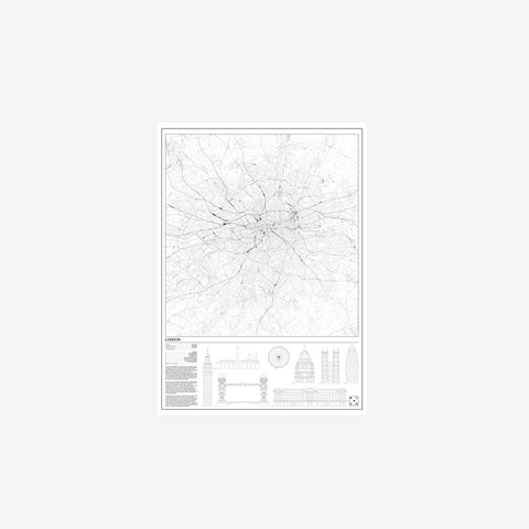 Block Stdo - Block Studio City Map of London Print - Art Prints  SIMPLE FORM.