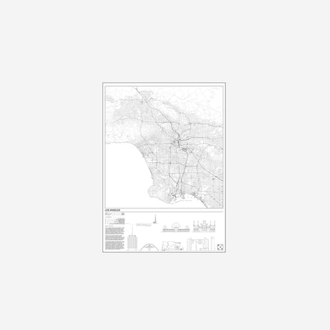 SIMPLE FORM. - Block Stdo - City Map of Los Angeles - Art Prints