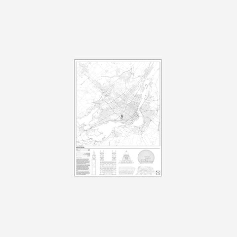 SIMPLE FORM. - Block Stdo - City Map of Montreal - Art Prints