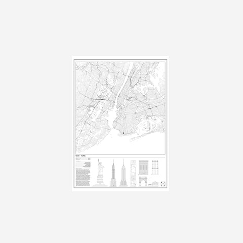 Block Stdo - Block Studio City Map of New York Print - Art Prints  SIMPLE FORM.