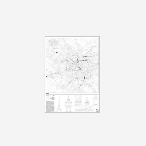 SIMPLE FORM. - Block Stdo - City Map of Paris - Art Prints
