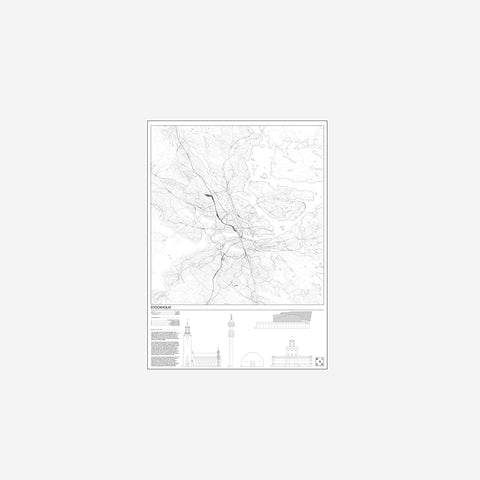 SIMPLE FORM. - Block Stdo - City Map of Stockholm - Art Prints
