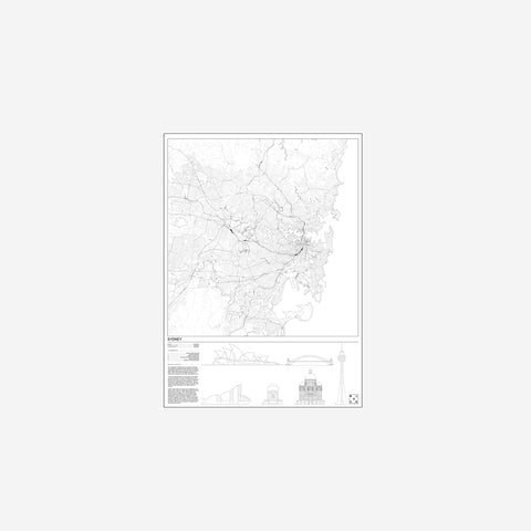 SIMPLE FORM. - Block Stdo - City Map of Sydney - Art Prints