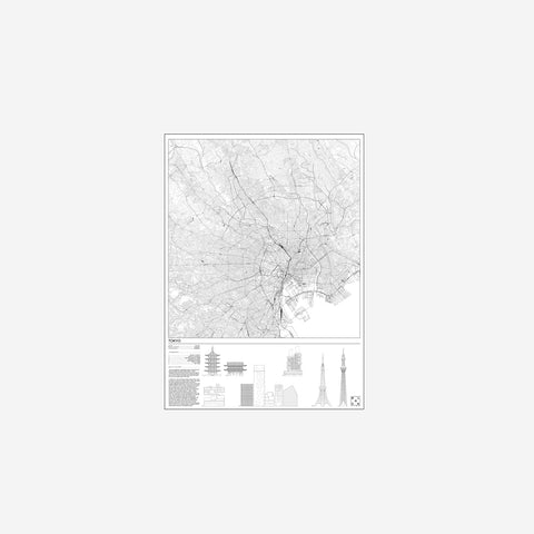 SIMPLE FORM. - Block Stdo - City Map of Tokyo - Art Prints