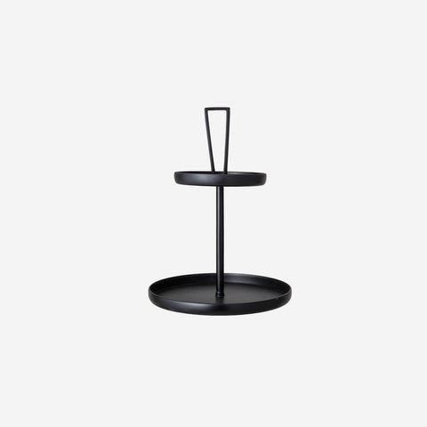 SIMPLE FORM. - Bloomingville - Black Metal Tiered Tray Stand - Cake Stand