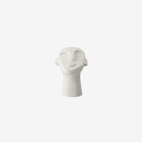 SIMPLE FORM. - Bloomingville - Cement Head Face Sculpture - Decor