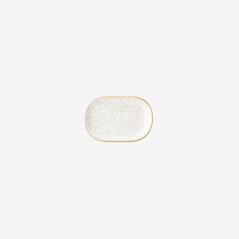 SIMPLE FORM. - Bloomingville - Ceramic Plate White Small - Plate