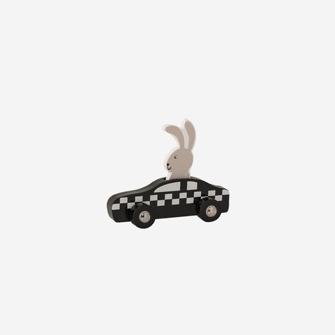 SIMPLE FORM. - Bloomingville - Wooden Bunny + Race Car - Wooden Toy