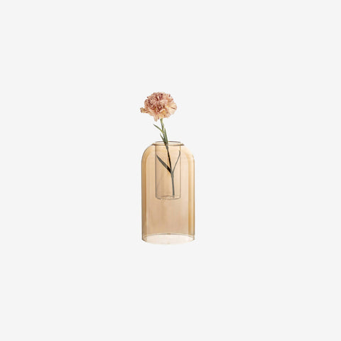 SIMPLE FORM. - Bloomingville - Brown Glass Dome Vase - Vase