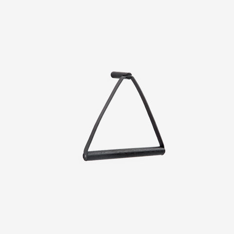By Wirth - By Wirth Black Leather Towel Hanger - Towel Hanger  SIMPLE FORM.