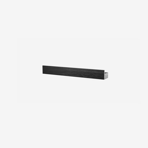 SIMPLE FORM. - By Wirth - Magnetic Shelf Black Oak 40cm - Shelf