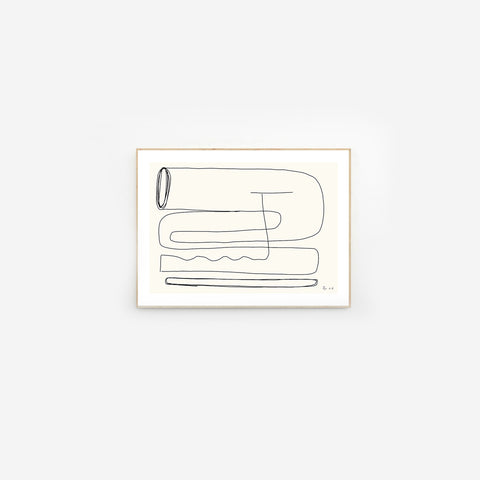 Byc Design Studio - Between Lines 01 Print - Art Print  SIMPLE FORM.