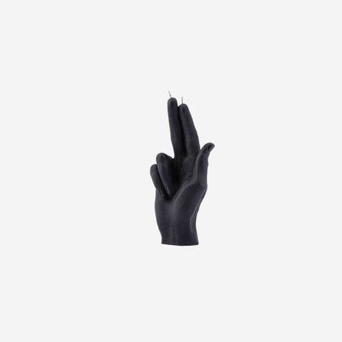 SIMPLE FORM. - Candle Hand - Black Hand Candle Gun Fingers - Candle