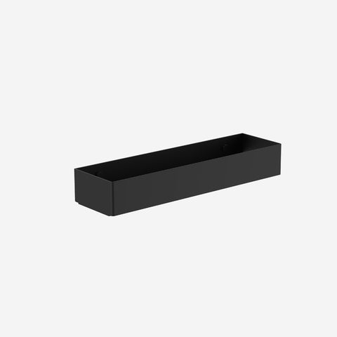 SIMPLE FORM. - Clark - Black Square Metal Wall Caddy - Bathroom Accessories