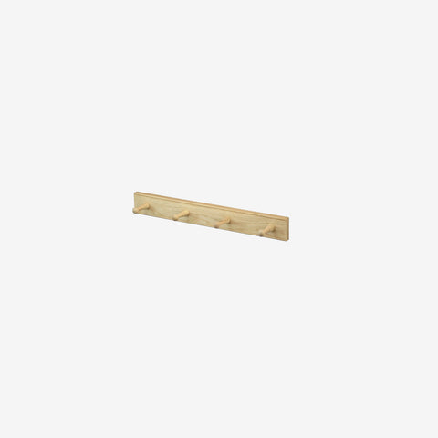 Creamore Home - Oak Peg Coat Rack 4 - Coat Rack  SIMPLE FORM.