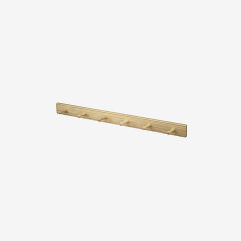 SIMPLE FORM. - Creamore Home - Oak Peg Coat Rack 6 - Coat Rack